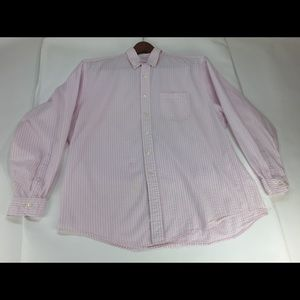 Brooks Brothers 346 Pink Seersucker Shirt XL